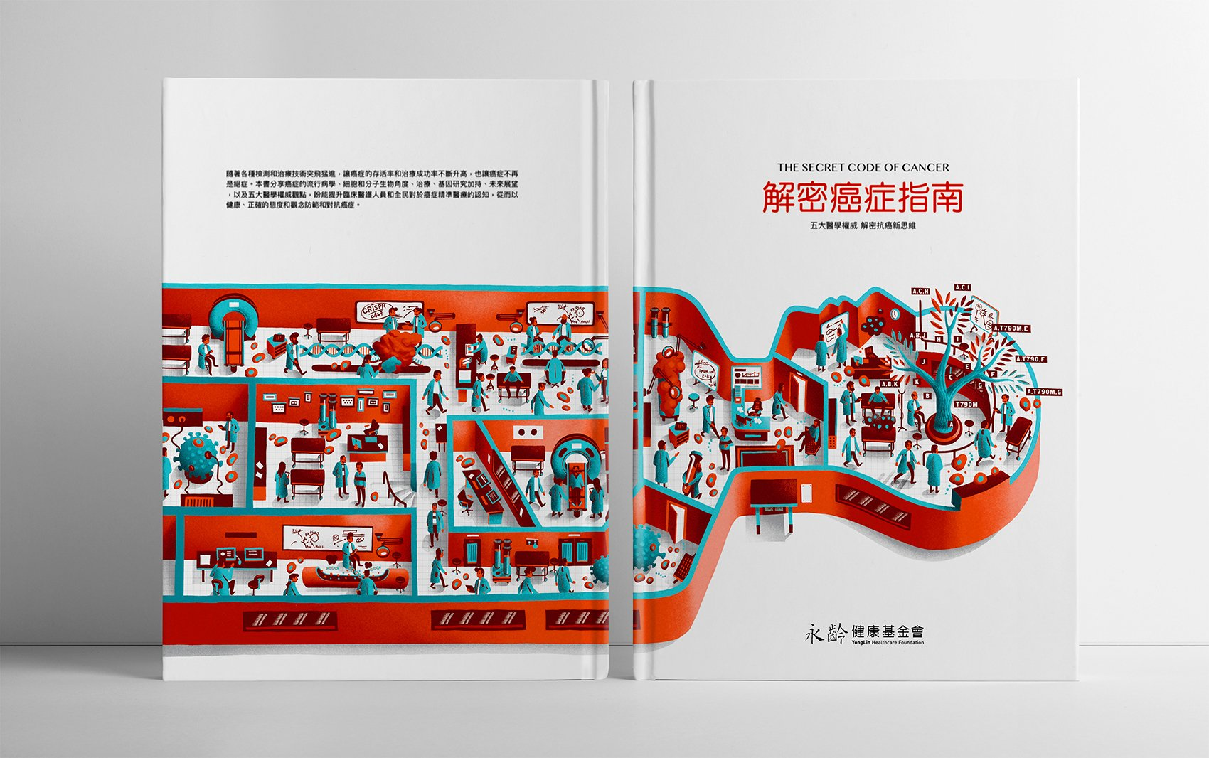 "Design cover and backcover book Geneonline Asia ""The Secrest of cancer"""