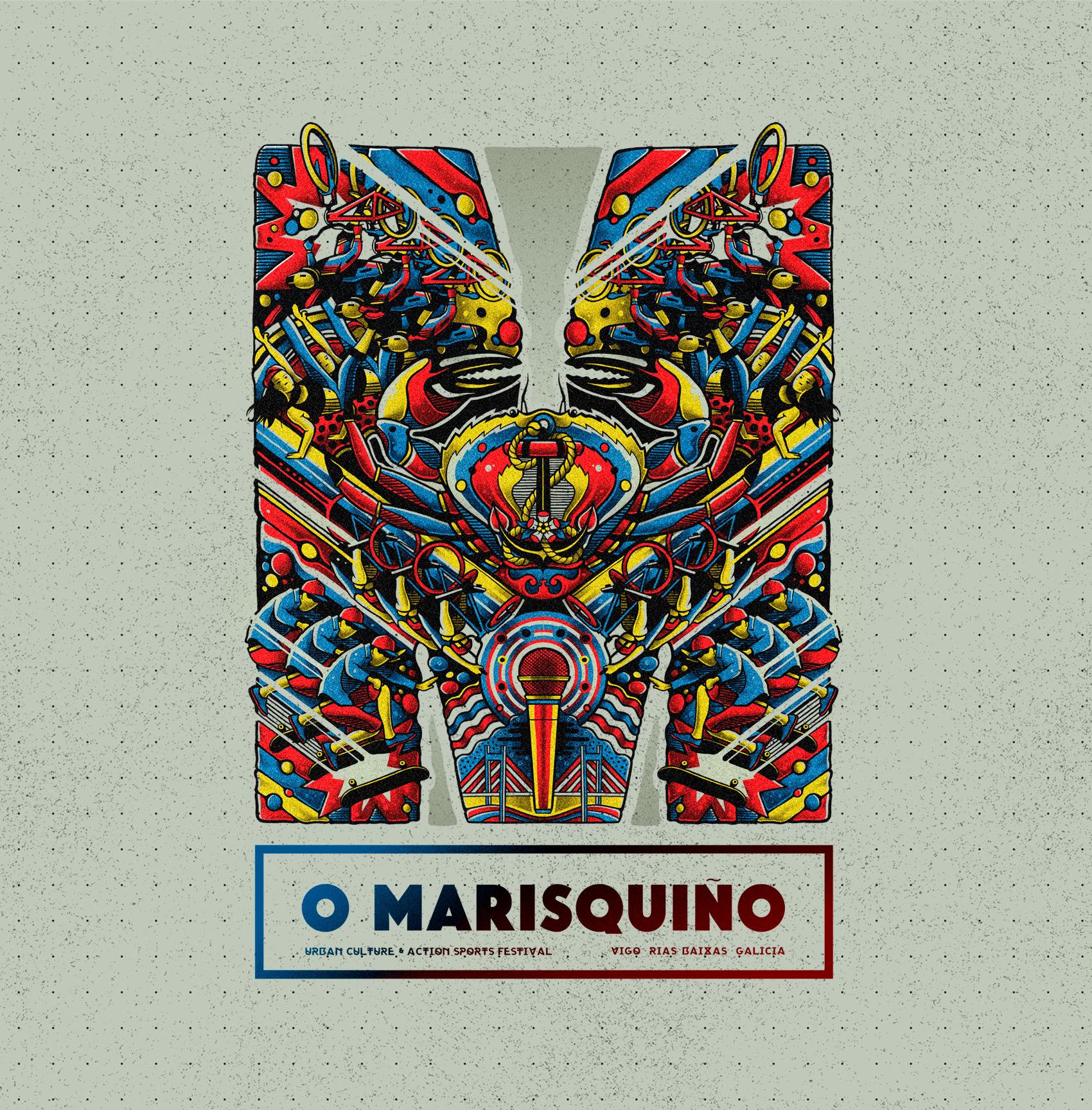 Illustration  O Marisquiño 2019. Sr.Reny