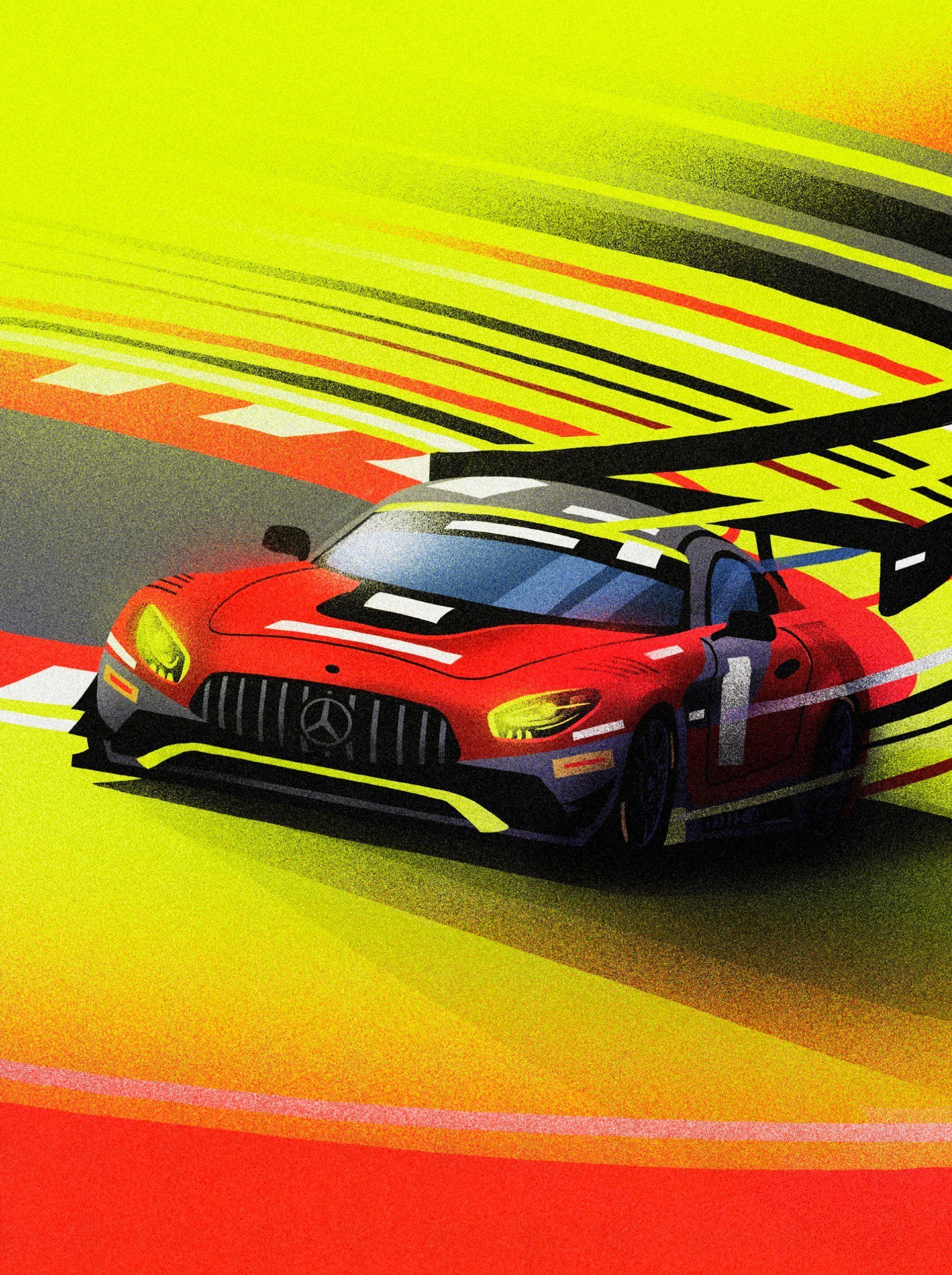 Illustration Mercedes AMG GT3