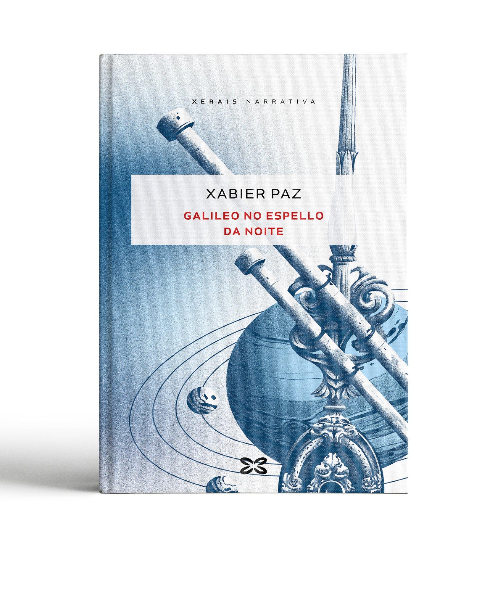 """Diseño portada Libro xerais """"Galileo no espello da noite"""""""