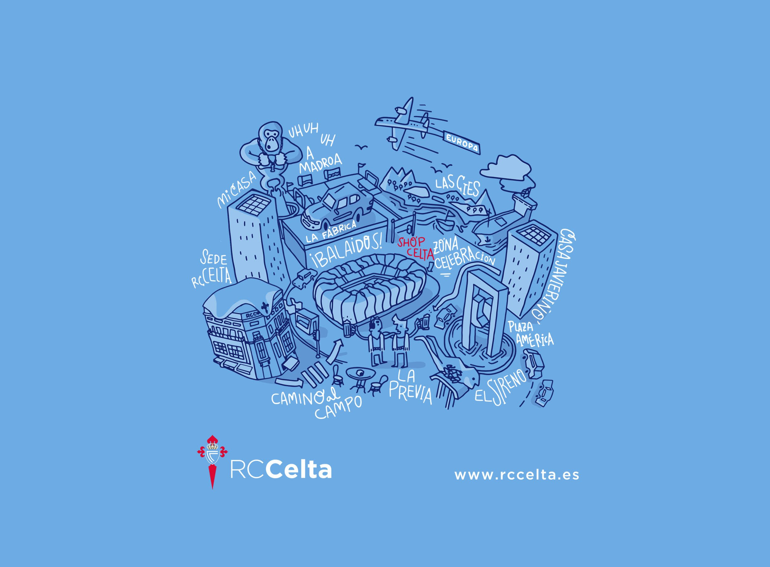 Design illustration RC Celta