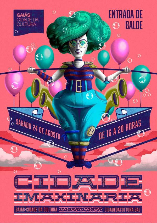 Illustration for Cidade Imaxinaria 2019 by Sr.Reny