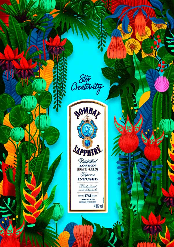 Illustration for Bombay Sapphire by Sr.Reny